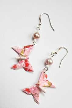 Pink Floral Origami  Lafosse Swallowtail by folditcreations, $20.00