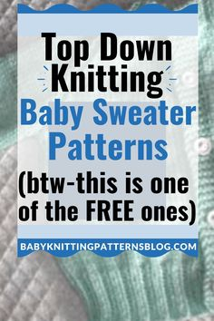 Top down baby sweater knitting patterns. An easier way to make sure baby's new sweater fits perfectly.Easy way to knit any sweater. Cute Patterns, Some FREE Baby Sweater Patterns, Baby Cardigan Knitting Pattern, Knit Baby Sweaters, Baby Knitting Patterns, Knitting Stitches, Knitting Help, Easy Knitting, Beautiful Baby Shower, Gifts For New Moms