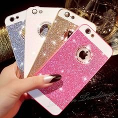 Luxury Bling Glitter Crystal Back Case Cover for Apple iPhone 5 /5S / 6 / 6 Plus