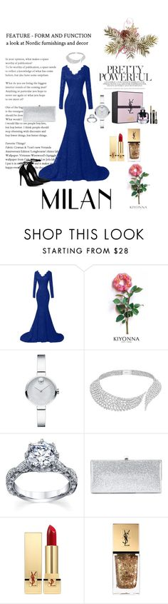 """""""Be elegant what ever the size (plus size)"""" by divina-beyond ❤ liked on Polyvore featuring Kiyonna, Movado, Messika, Jimmy Choo and Yves Saint Laurent"""