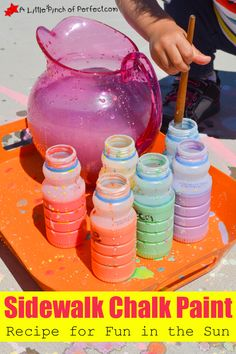 Homemade Sidewalk Chalk Paint Recipe for Fun in the Sun -