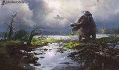 Platybelodon, Nikolai Litvinenko on ArtStation at https://www.artstation.com/artwork/ELgG0