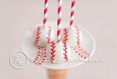 Baseball Cakepops by Sweet Indulgence (www.mysweetindulgence.com)
