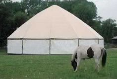 Portable Covered Round Pen | Barns2Go - portable barns, horse stalls, shelters, car garages