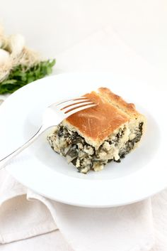 Vegetarian Chard, Fennel and Feta Pie Quiches, Milk And Vinegar, Gratin Dish, Spinach And Feta, Vegetarian Cheese, Vegetarian Meals, Fennel, Original Recipe, Main Dishes