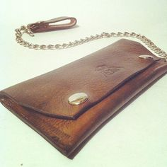 Leather Biker Wallet w/ Chain by The CLAW by CLAWKEEPER on Etsy, $85.00