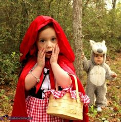Little Red Riding Hood  & Big Bad Wolf - too cute!  When Miss A has a little brother!!
