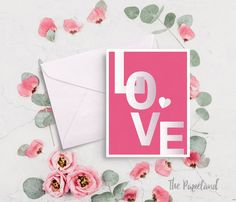 Valentine card. Love card. Printable card by ThePapeland. #valentine #valentinesday #printablecard #valentinegift #Love #etsy