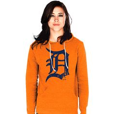 Detroit Tigers Women's Pullover Triblend Hood by Majestic Threads - MLB.com Shop