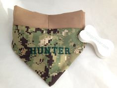 """Cooling Gel Bandanna in Camo & Tan for """"Hunter"""".  $25 Dog Id, Lost & Found, Bandana, Collars, Camo, Your Style, How To Wear, Products, Camouflage"""
