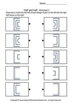 half and half make a whole shape