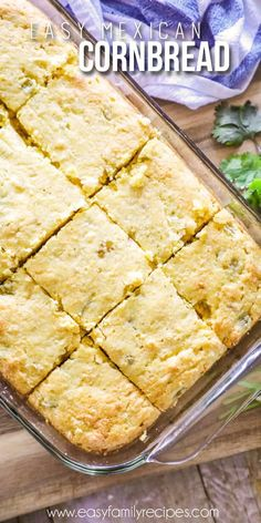 Mexican Cornbread made in pan Easy Mexican Cornbread, Jiffy Cornbread Recipes, Mexican Christmas Food, Christmas Recipes, Easy Family Meals, Family Recipes, Mexican Potluck, Breakfast Lunch Dinner, Fresh Bread