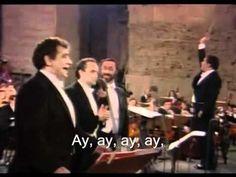 The Three Tenors - Cielito Lindo - 1990 Zubin Mehta, Aaron Copland, Placido Domingo, Music Love, Musical Theatre, New Life, Third, Musicals, Singing