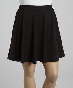 Love this Black Zigzag Skirt - Plus by Hug on #zulily! #zulilyfinds