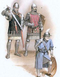1. Albrecht von Hohenlohe, c.1325 2. Otto von Orlamünde, c.1340 3. Infantryman mid - 14th century