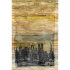 Parvez Taj Shaded Nyc Print on Canvas, Size: 16 inch x 24 inch, Multicolor