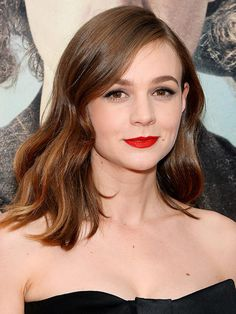 Best in Beauty! Our 2015 Hair and Makeup Superlatives | Best red lipstick: Carey Mulligan