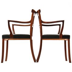Armchairs by Ole Wanscher