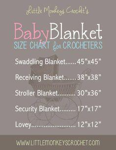 Crochet size chart!