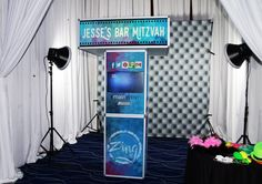 Trending High-Tech Bar & Bat Mitzvah Party Ideas - Zing+It+booth from The Main Event - mazelmoments.com