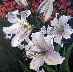 """Casablanca & Orange lilies 2"" JAN POYNTER"