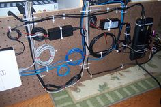 Hidden cable organization method takes home cable management into a whole other dimension.