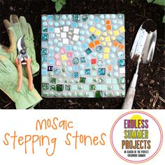 Mosaic Stepping Stones from Lulu the Baker
