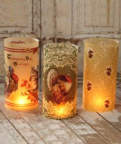 Thanksgiving Luminaries from The Holiday Barn