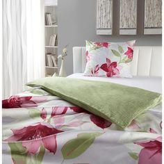 Sommerliche Bettwäsche mit großen, pinken Lilien von ESPOSA