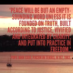 Do you think that the truth, justice and reconciliation councils or tribunals established in a number of post conflict societies have helped to build true peace? Why might truth, justice and charity be needed in order to build peace in freedom? #DailyCSTQuote from www.social-spirituality.net