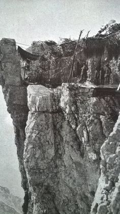 Italian barracks on the Dolomitic front, WWI Now: https://www.youtube.com/watch?v=nUGqCpR6B6E