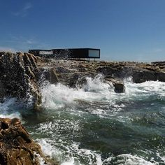 """I want to go to there.""  Saunders Architecture of Norway have recently completed the first of six artists' studios on Fogo Island off the coast of Canada."