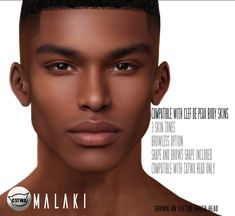 NEW male skin released for catwa male heads at Event. Available in 2 tones and compatible with Clef de peau body skin. HUD with : Normal and Scar version Hope you guys enjoy it ! The Sims 4 Skin, The Sims 4 Pc, Sims Four, Sims 4 Cas, Sims Cc, Sims 4 Hair Male, Sims 4 Black Hair, Sims 4 Afro Hair Cc, Sims 4 Body Mods