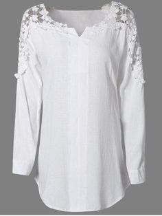 GET $50 NOW   Join RoseGal: Get YOUR $50 NOW!http://m.rosegal.com/plus-size-tops/oversized-fashion-solid-color-lace-649709.html?seid=6912481rg649709