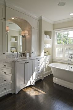 Alcove behind tub/Bathroom - traditional - bathroom - charlotte - Carolina Design Associates, LLC