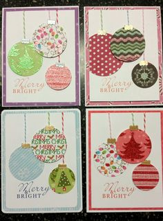 Different versions of Merry & Bright. Simple Christmas Cards, Christmas Paper Crafts, Homemade Christmas Cards, Xmas Cards, Homemade Cards, Handmade Christmas, Holiday Crafts, Watercolor Christmas Cards, Theme Noel