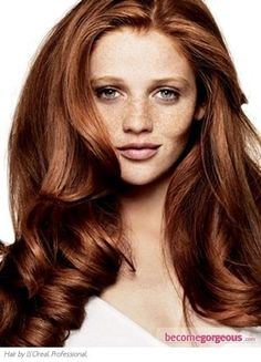 Gorgeous auburn hair color