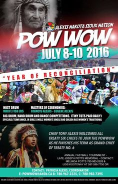 "Alexis Nakota Siuox Nation Pow wow ""Years Of Reconciliation"""