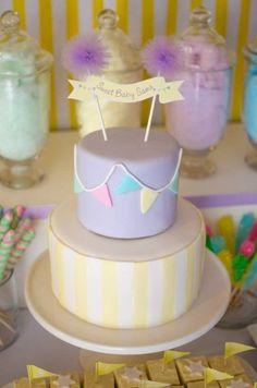 Ideias de bolo para chá de bebê | Macetes de Mãe
