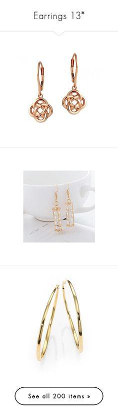 """""""Earrings 13*"""" by thesassystewart on Polyvore featuring jewelry, earrings, long earrings, love knot earrings, 18k rose gold earrings, 18k earrings, red gold jewelry, dangle earrings, gold plated earrings and 18k jewelry"""