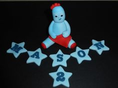 Handmade Edible In the Night Garden Iggle Piggle Cake Topper