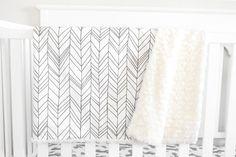 Little Woolf Organic Knit Cotton Baby Blanket, Ivory Faux Fur in White Featherland, Modern Nursery, Gender Neutral, Tribal Bedding, Woodland on Etsy, $63.00
