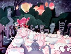 Alice in Wonderland Tea Party Alice In Wonderland Aesthetic, Alice In Wonderland Tea Party, Art Disney, Disney Magic, Alice Disney, Disney Theme, Alice March, Chesire Cat, Mad Hatter Tea