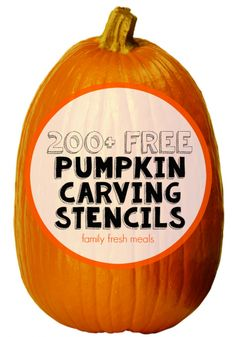 200+ Free Pumpkin Carving Stencils -familyfreshmeals.com Easily carve your jack-o-lantern with these template ideas