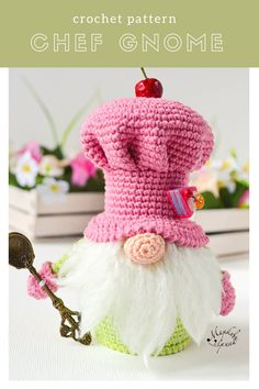The crochet pattern includes a list of necessary materials and tools. The pattern is 17 pages long and has 54 pictures to help you. Crochet Patterns Amigurumi, Crochet Hooks, Amigurumi Toys, Crochet Edgings, Easter Crochet Patterns, Crochet Dragon, Markova, Scandinavian Gnomes, Crochet World
