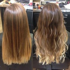 A good ombré looks great straight OR curly. The only thing that should change when it's curly is the way the hair reflects light! #balayage #ombre #pinteresthair #longhair #curlyhair #straighthair #colorist #aveda #guy_tang #hairstylist #stylist #sunkissed #womensstyle #womensfashion