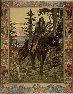 Ivan Bilibin: The Black Knight