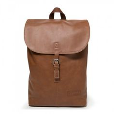 Ciera Brownie Leather Backpacks by Eastpak - Front view