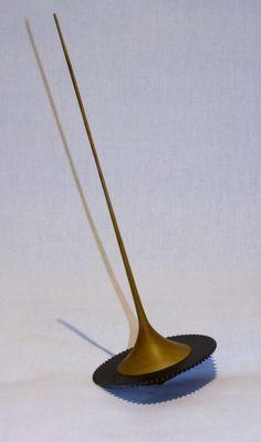 M002 - Kreiselsäge Spinning Top, Woodturning, Wood And Metal, Magic, Japan, Kids, Crafts, Inspiration, Design