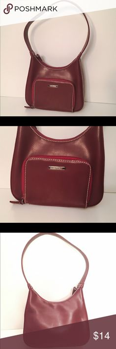 Nine & Company red mini shoulder bag Nine & Company deep red mini shoulder purse. Great condition. Nine West Bags Mini Bags